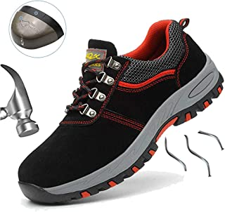SUADEX Safety Shoes for Men, Waterproof Lightweight Puncture Proof Steel Toe Sneakers,Indestructible Construction Work Shoes for Womens