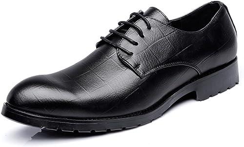 Herren Leder Gefüttert Smart Hochzeit Lace up Formelle Kleidung Schuhe SchwarzBüro Business Arbeit Derby Oxford Schuhe