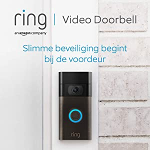 Ring Video Doorbell | 1080p HD-video, geavanceerde bewegingsdetectie, en eenvoudige installatie (2. gen) | Inclusief proefabonnement van 30 dagen op Ring Protect Plus