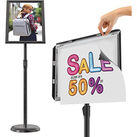 ZKKWLL Display Stand Advertising Display Stand Display Floor Adjustable Advertising Sales Poster Frame Advertising Sign Stand Size : A2-Right Angle