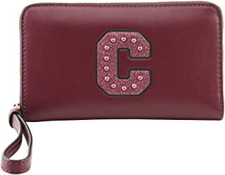 Coach Women's Boxed Phone Wallet With Glitter C Patch, Style F22703, IM Crimson
