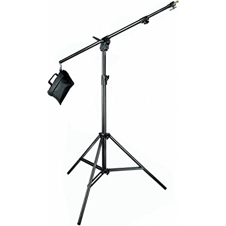 Manfrotto 420B 3- Section Combi- Boom Stand with Sand Bag - Replaces 3397,3397B (Black),4.7 x 4.3 x 46.5 inches