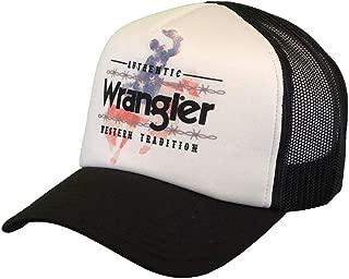 Wrangler Kid's Unisex 6 Panel Mesh Back, White