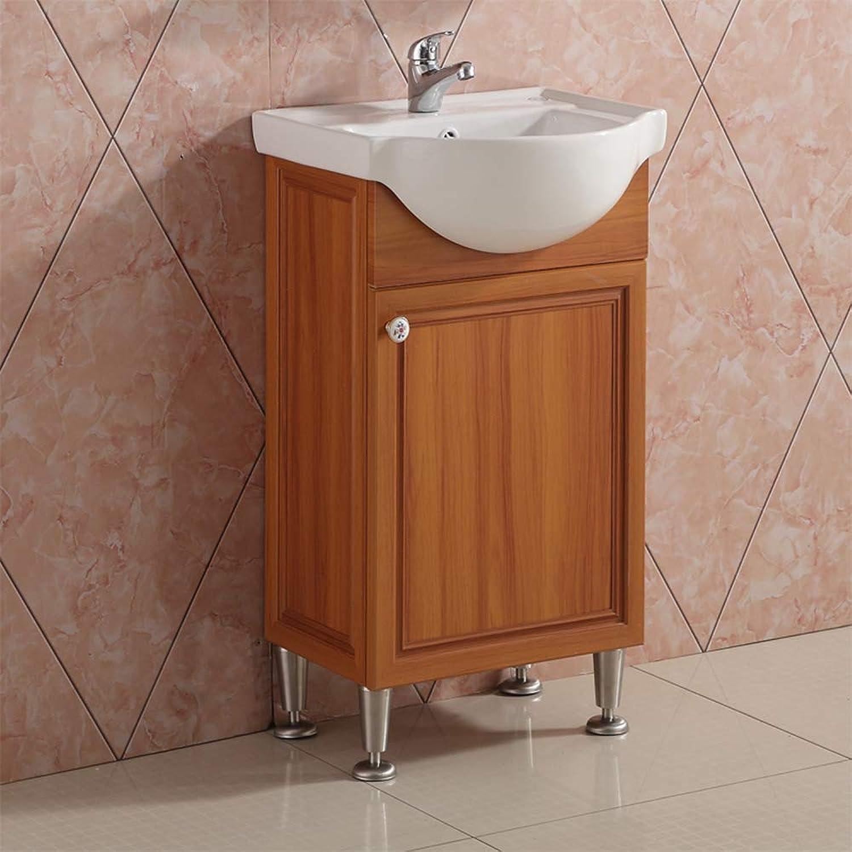 AICA Waschplatz gste wc Waschtisch mit Unterschrank Badmbel Set freistehend mit 4 einstellbare Basis Teakholz