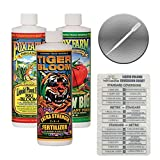 Fox Farm Liquid Nutrient Trio Soil Formula: Big Bloom, Grow Big, Tiger Bloom (Pack of 3-16 oz. Bottles) 1 Pint Each + Twin Canaries Chart & Pipette