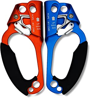 Paliston Climbing Hand Ascender for Rock Climbing Arborist (Right and Left) for 8~12 mm Rope