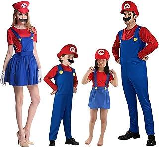 Disfraz Familiar Carnaval Trajes Super Mario Luigi para Niñ
