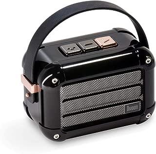 Divoom Macchiato Stylish Portable Bluetooth Speaker with FM Radio, 6W Output with TWS Function (Black)