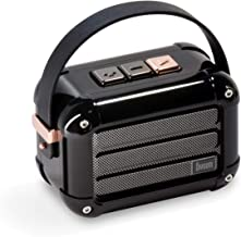 Divoom Macchiato Stylish Portable Bluetooth Speaker with FM Radio, 6W Output with TWS Function (Black)