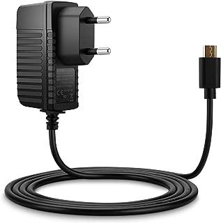 Aukru - Cargador para Raspberry Pi 2 (5 V, 2 A, 2000 mAh, MicroUSB), Color Negro