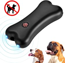 Petacc Anti Barking Device, Ultrasonic Dog Barking Control Deterrent for Dog Walking Training Outdoor, 16ft Control Range Rechargeable Bark Stopper with LED Light