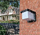 RXT Luz de Pared Solar, luz de jardín Impermeable al Aire Libre, luz de terraza al Aire Libre de Estilo Europeo, luz de Puerta, luz de Pared Exterior de Villa de jardín (Cuadrada)