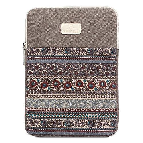 Feisman 11 Zoll wasserdicht Canvas Laptop Schutzhülle Tasche für 11-11,6 Zoll MacBook Air Ultrabook Netbook Tablet, MacBook Air 11 Reisetasche -(Grau)
