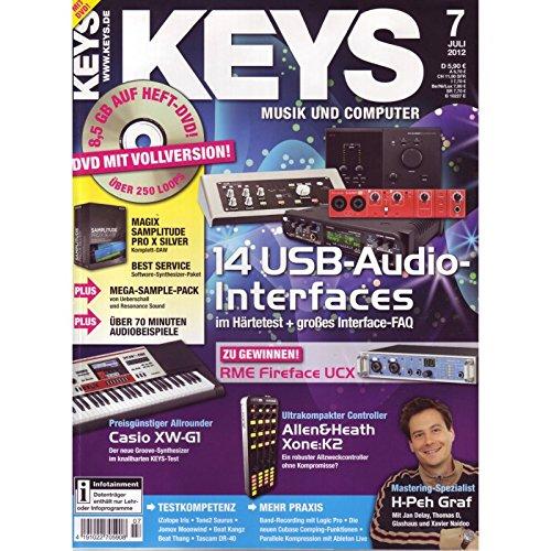Keys 7 2012 mit DVD - USB Audio Interfaces - Magix Samplitude Pro X Silver Software auf DVD - Personal Samples - Free Loops - Audiobeispiele
