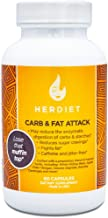 Her Diet Carb and Fat Attack – Extra Strength Carbohydrate & Fat Blocker – Appetite Suppressant Pills – Stimulant Free – Cheat Meal Aid -- Weight Loss for Women