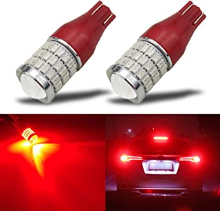 iBrightstar Newest 9-30V Super Bright T15 912 W16W 921 LED Bulbs with Projector replacement for Tail 3rd High Mount Brake Lights, Brilliant Red