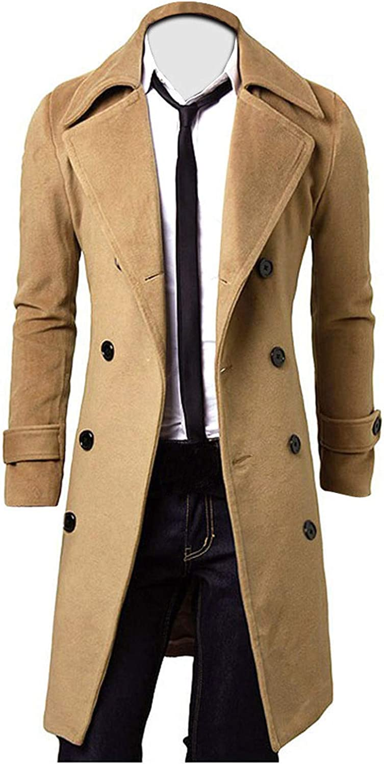 Men's Trench Coat Casual Lapel Long Overc Winter Max 49% OFF Direct sale of manufacturer Collar Business