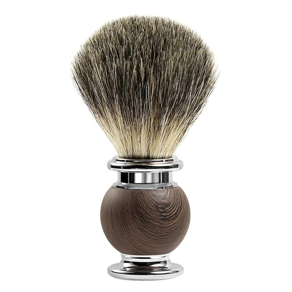 GRUTTI Badger Hair Shaving Brush Spring new work han Stainless and shipfree Acrylic Steel