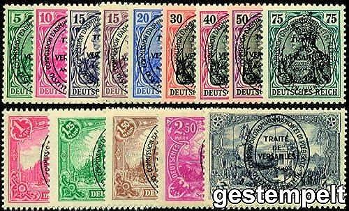 Goldhahn Allenstein Nr.15-28 gestempelt Briefmarken für Sammler