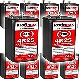 Original kraftmax 4R25 6V Blockbatterie - Longlife PRO Version - NEUSTE GENERATION in Industriequalität Markenzelle mit extrem hoher Kapazität von 9500mAh ( 9,5 AH ) für maximale Leistung und sehr langer Nutzungsdauer. professioneller Einsatz vorwieg...