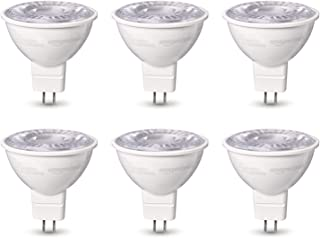 AmazonBasics 50W Equivalent, Daylight, Dimmable, 10,000 Hour Lifetime, MR16 (GU 5.3 Base) LED Light Bulb | 6-Pack