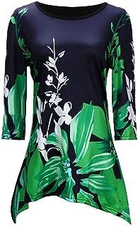S-Fly Women Top Print Fashion Casual 1/2 Sleeve T-Shirt Tee Top