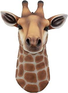 Ebros Kenya The Safari Giraffe Head Wall Decor Wildlife Animal Trophy Taxidermy Sculpture Hanging Plaque Figurine