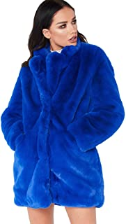 Womens Faux Fur Coat Plus Size Parka Jacket Long Trench Winter Warm Thick Outerwear Overcoat US XS-4XL