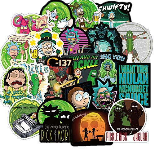 100 Pieces of American Drama Rick and Morty Stickers for Luggage skis car Refrigerator car Styling Notebook Stickers