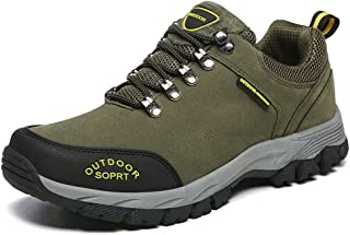TERIAU Hiking Boots for Mens Suede Leather Outdoor Waterproof Wearable Backpacking Shoes