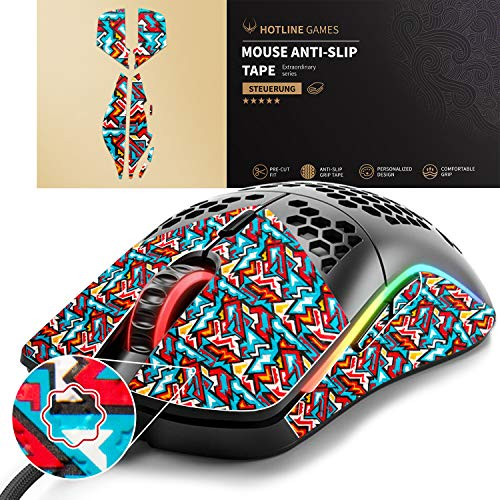 Hotline Games Colorful Mouse Grip Tape for Glorious Model O- Odin Minus Gaming Mouse Anti-Slip Tape,Non-Fading,Pre-Cut,Easy to Use,Sweat Resistant,Professional Mice Upgrade Kit