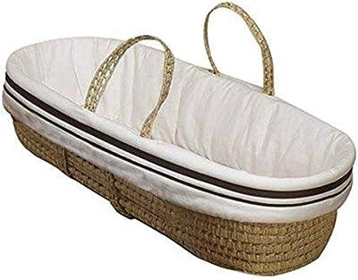 Baby Doll Bedding Hotel Style Moses Basket, Ecru