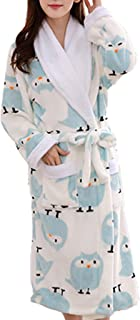 Femaroly Womens Bathrobe Dressing Gown Christmas Birthday Gift Long Ladies Sleepwear Spa Robe