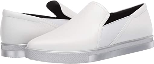 White Pebble Leather