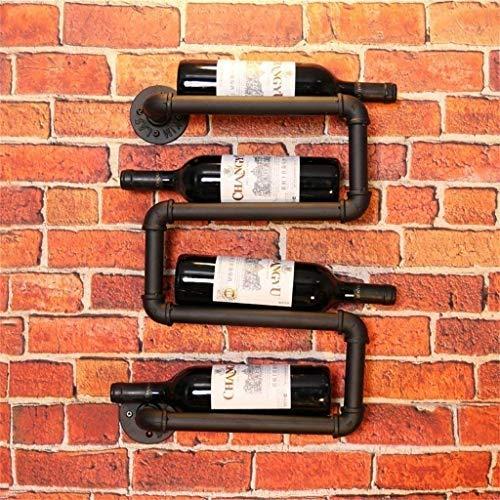 Porte-verres Casier à Bouteilles Racks muraux casier à vin décoration Cuisine Bar café Tube métallique de Support de Verre à vin Armoire à vin Restaurant casier à vin à vin (31x8x50cm)