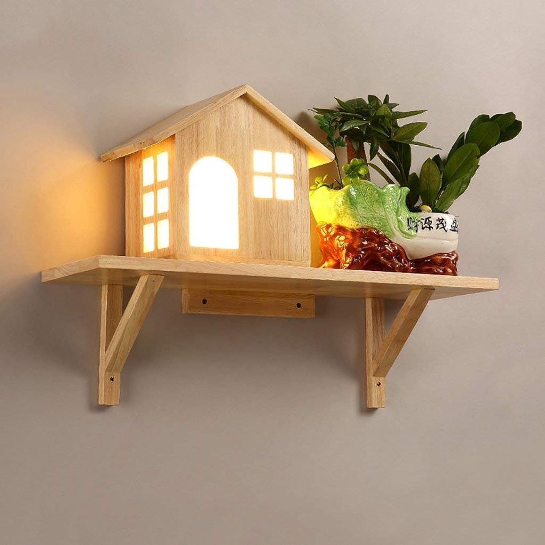 JU Wandleuchte Kreative Holz Holz Holz Wandleuchte Einfache Wohnzimmer Licht Gang Korridor Lichter Schlafzimmer Nachttischlampe B07FZW3QNP   Auktion  b2a0d0