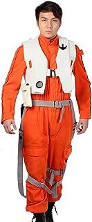 Xcoser Poe Dameron Costume Jumpsuit for Mens Halloween Cosplay