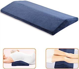 Almohada de apoyo lumbar, multifuncional de espuma viscoelástica suave, cojín triangular para la cintura