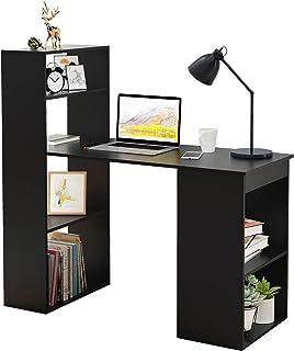 soges Postes de Travail informatiques,Bureau,Bureau d'ordinateur en Bois avec étagère,Bureau d'écriture d'étude épissé,Bur...