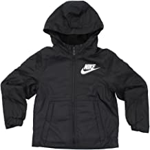 NIKE NSW Little Kids' (Boys') Full-Zip Hooded Jacket Sportswear Fleece-Lined (L (6X-7) 6-7YRS), Black