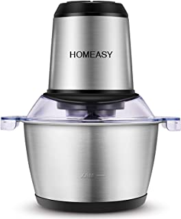 Homeasy Meat Grinder, Food Chopper 2L Stainless Steel Food Processor for Meat,..