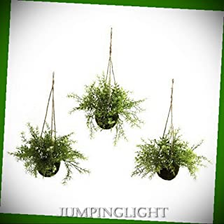 JumpingLight Ruscus, Sedum and Springeri Hanging Basket Artificial Flowers Wedding Party Centerpieces Arrangements Bouquets Supplies
