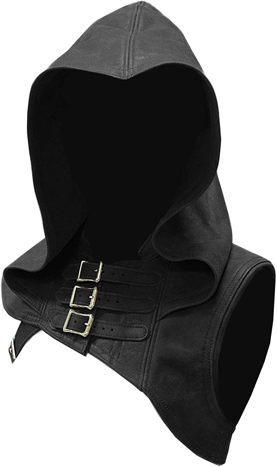 Uyebros Medieval Costume Hooded Balaclavas Medieval Gothic Cowl Hat Costumes for Halloween LARP Cosplay Party