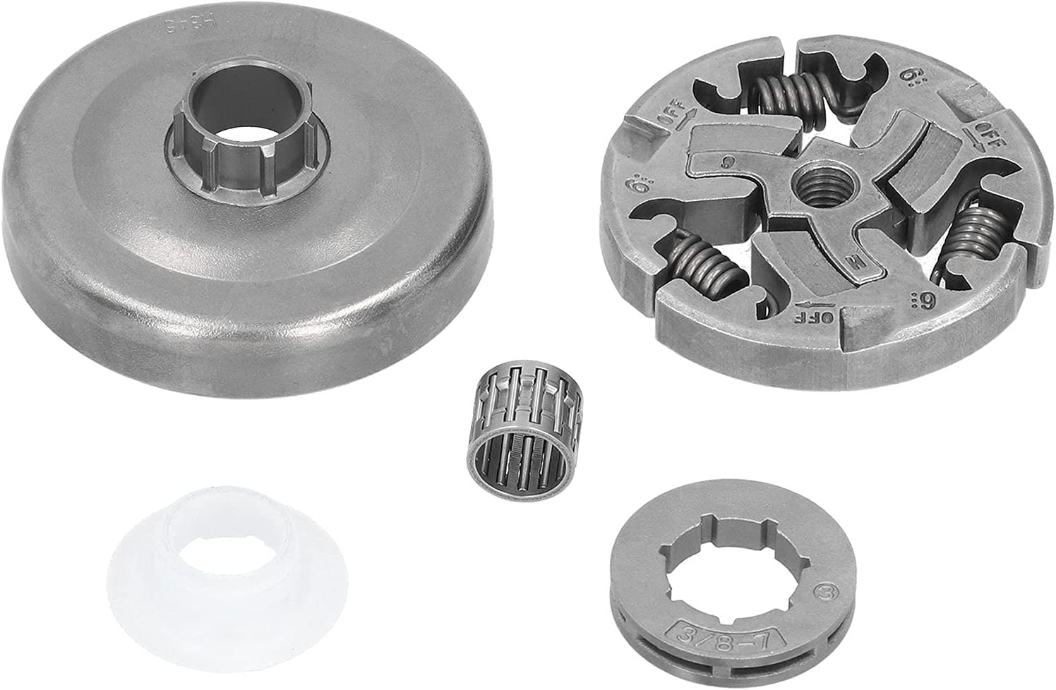 Cadena de tambor de embrague de 3/8 pulgadas, kit de tambor de embrague de transmisión por cadena, equipo mecánico de acero de aleación S2 para cadena de sierra