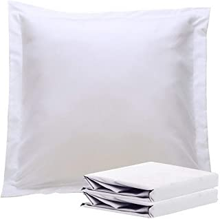 Best NTBAY 100% Brushed Microfiber European Square Throw Pillow Cushion Cover Set of 2, Soft and Cozy, Wrinkle, Fade, Stain Resistant (26 x 26 inches, White) Review