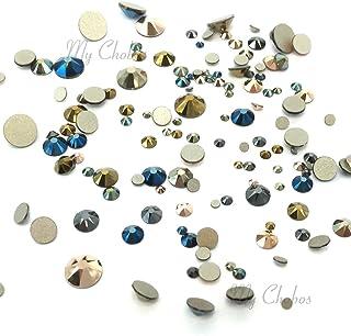METALLIC Colors mixed with Swarovski 2058 Xilion / 2088 Xirius Rose flatbacks sizes ss5, ss7, ss9, ss12, ss16, ss20, ss30 No-Hotfix rhinestones nail art 144 pcs (1 gross) from Mychobos (Crystal-Wholesale)