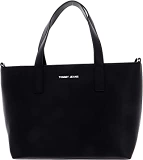 Tommy Jeans Women's Femme E/W Tote PU Bag, Black - AW0AW08055
