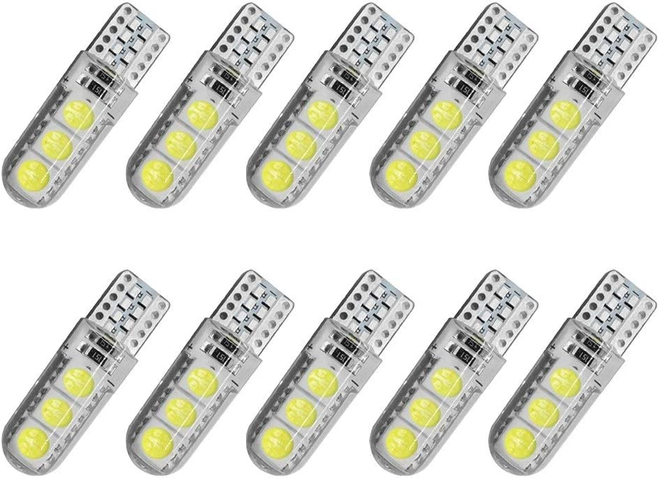 Light Virginia Beach Mall New Orleans Mall Bulbs LED T10 W5W 5050 194 L 6SMD Silicone