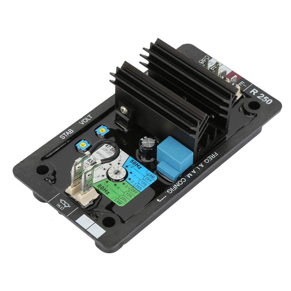 Voltage Regulator, Durable R250 Avr Auto Voltage Regulator Brushless Diesel Generation System Set Accessories for Vibrations and Harsh Environments