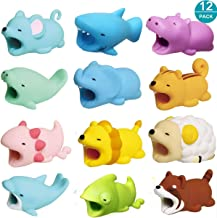 SinoZeal Cable Animal Bite Protector Compatible iPhone Cable Charging Cord Saver, Cute Creature Bites Cables Charger Protector Accessory (12 Pack)